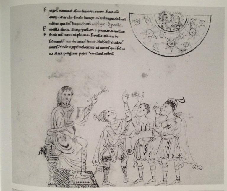 Авраам преподает астрономию. XII в.