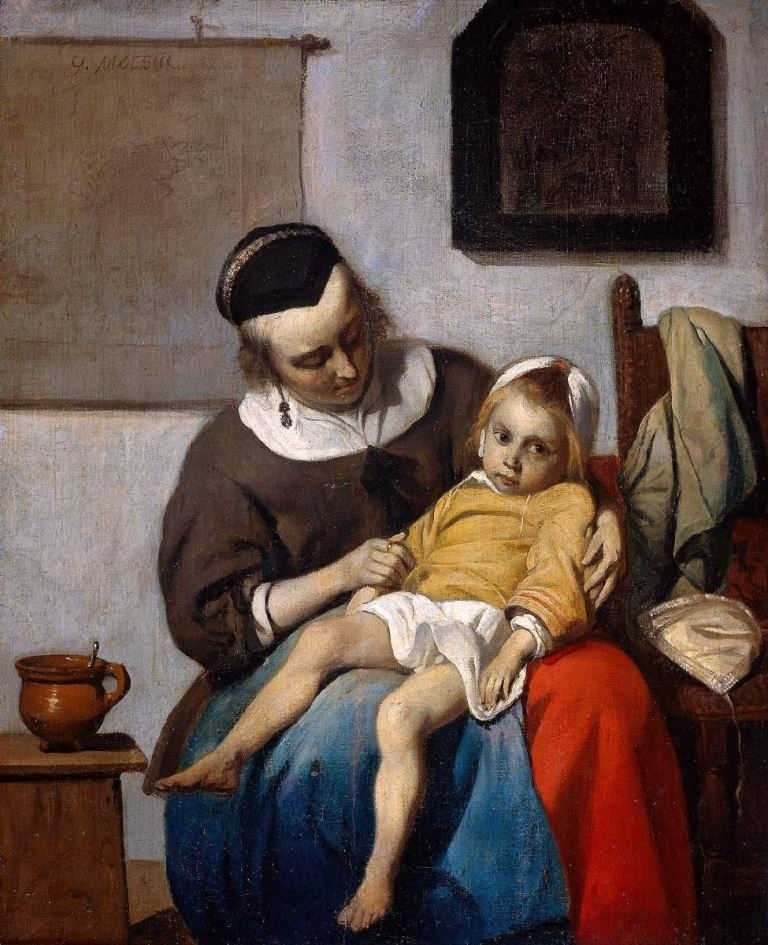 Больной ребенок. 1660