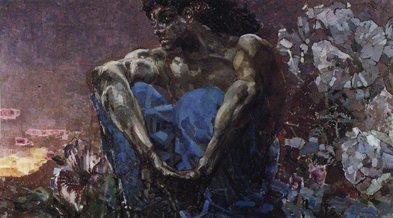Демон сидящий. 1901