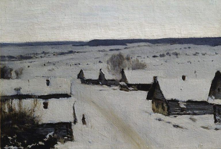 Деревня. Зима. 1878