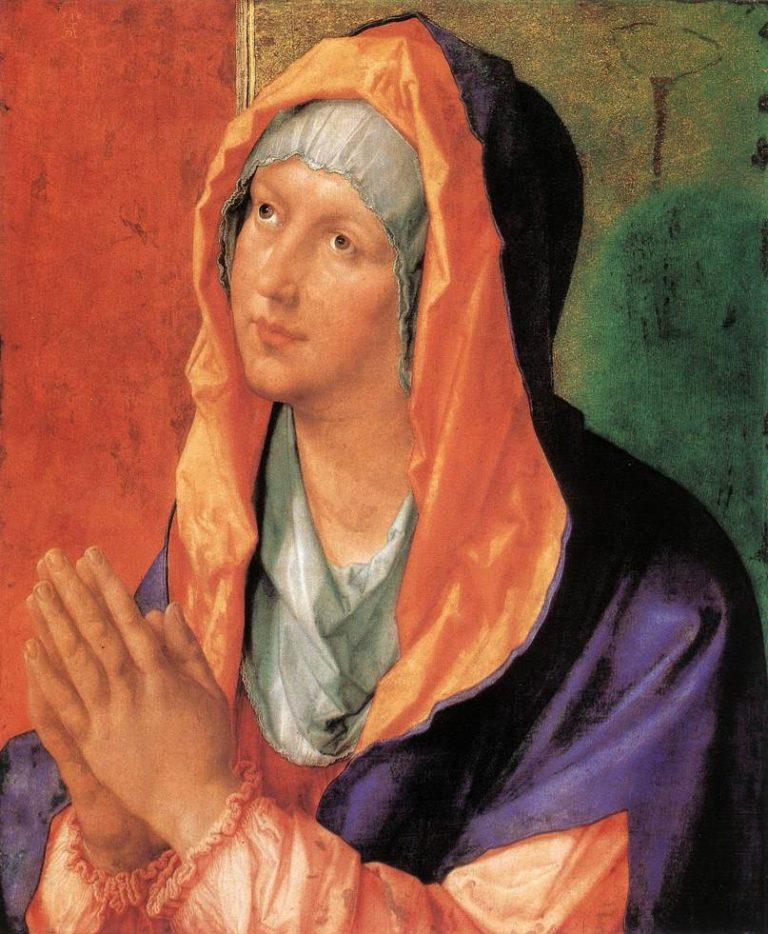 Дева Мария молится. 1518
