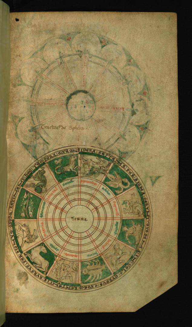 Диаграмма Зодиака. Кон. XII в.