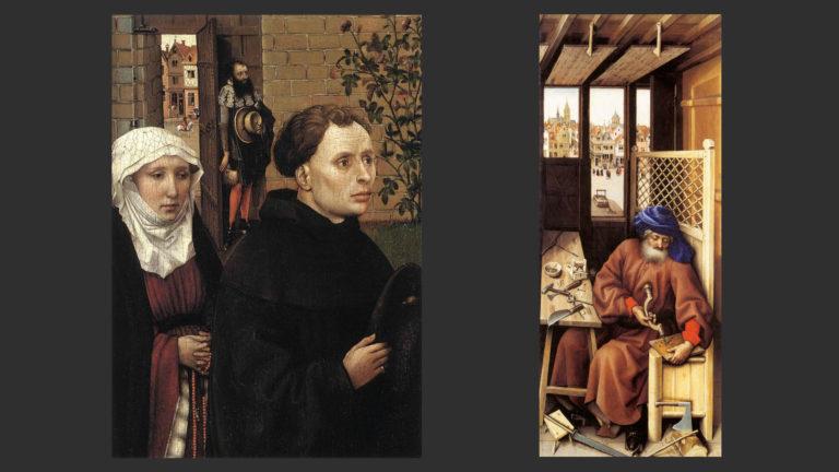 Донаторы Мехелены. Иосиф изготавливает мышеловку. «Меродский алтарь». 1425–1427