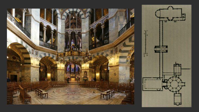 Дворец и капелла Карла Великого. Ок. 800 г. Ахен
