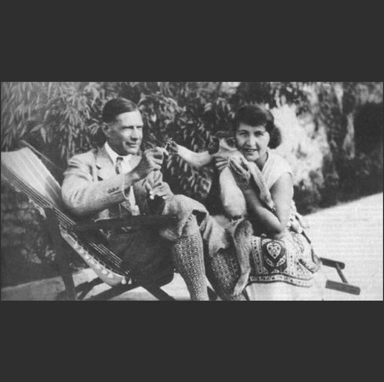 Е.И. Замятин с женой в эмиграции