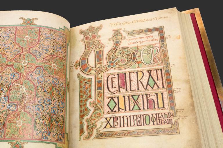 Евангелие из Линдисфарна (Lindisfarne Gospels). Конец VII — нач. VIII вв.