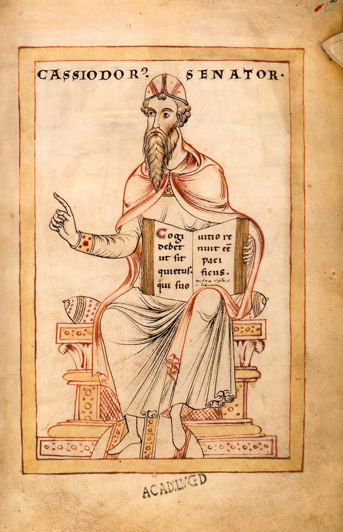 Флавий Магнус Аврелий Кассиодор Сенатор (лат. Flavius Magnus Aurelius Cassiodorus Senator, V–VI вв.). Фульдское аббатство, 1177 г.