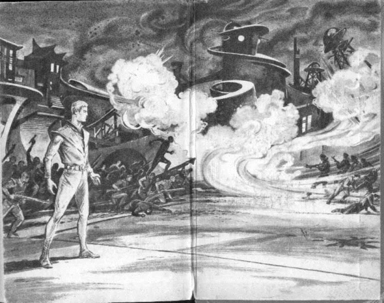 Форзац первого издания романа братьев А. и Б. Стругацких «Обитаемый остров». 1971