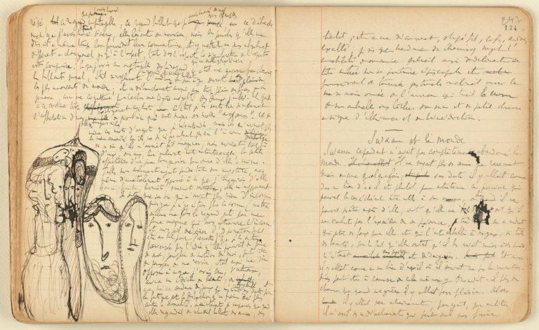Фрагмент рукописи Марселя Пруста. 1909