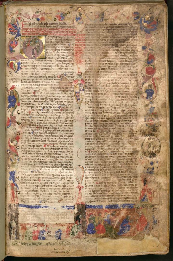 Фронтиспис «Введения в астрологию» Михаила Скота, написанного по заказу Фридриха II. Сер. XIV в.