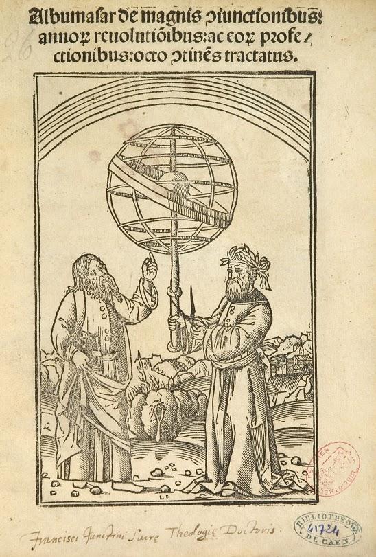 Фронтиспис издания книги Абу Машара «Введение в науку о звездах» на латинском языке. Венеция, 1515