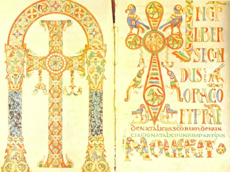 Гелазианский сакраментарий. Фронтиспис и зачин. Париж, ок. 750 г.