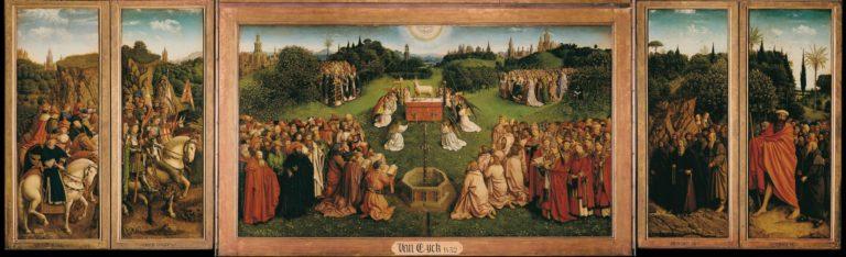 «Гентский алтарь». Фрагмент «Мистический Агнец». 1430–1432