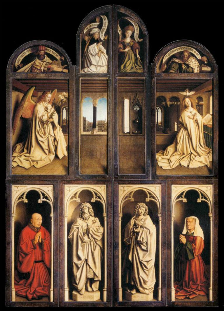 «Гентский алтарь» в закрытом состоянии. 1430–1432