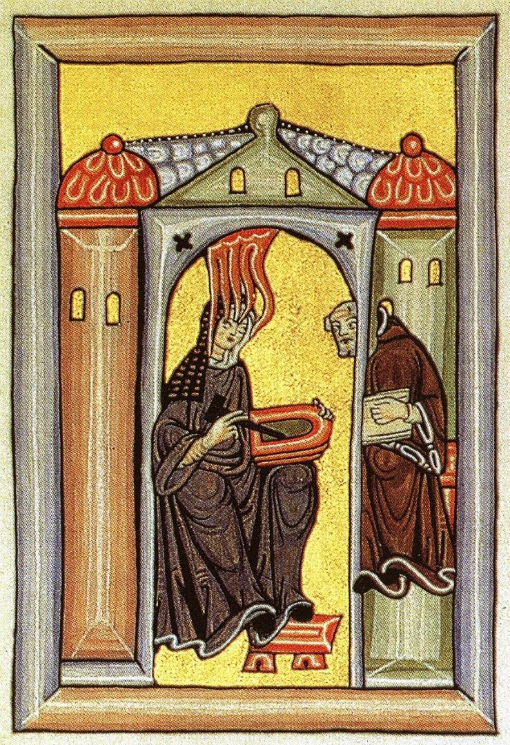 Хильдегарда Бингенская (нем. Hildegard von Bingen 1098–1179). Ок. 1210