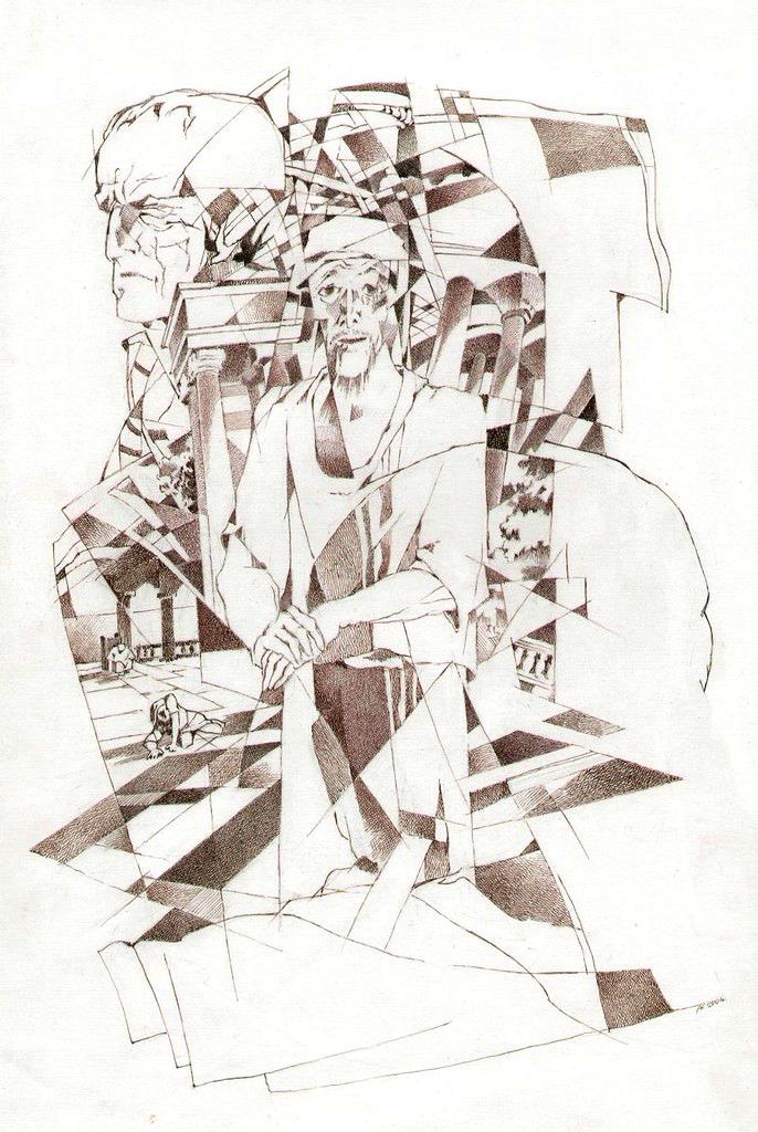 Иешуа. Иллюстрация к роману «Мастер и Маргарита». 2007