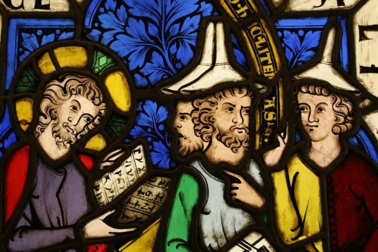 Иисус и фарисеи. XIII в.
