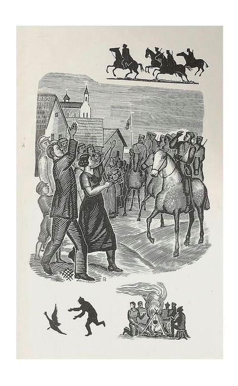 Иллюстрация к «Рассказам» Бабеля. 1934