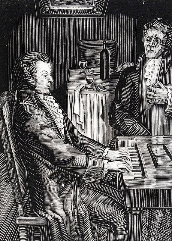 Иллюстрация к драме А.С. Пушкина «Моцарт и Сальери». 1959—1961