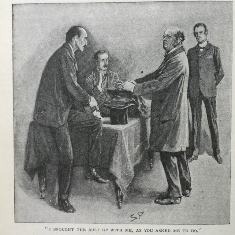 Иллюстрация к рассказу Артура Конан Дойла «Шесть наполеонов». 1904