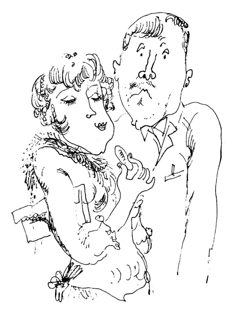 Иллюстрация к рассказу М.М. Зощенко «Аристократка». 1982