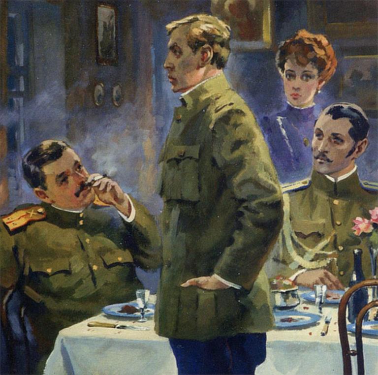 Иллюстрация к роману «Белая гвардия». 1989