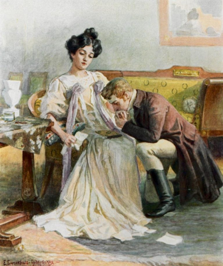 Иллюстрация к роману «Евгений Онегин». Ок. 1908