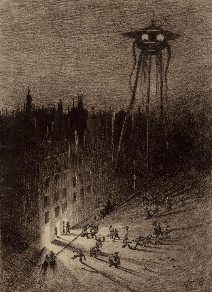 Иллюстрация к роману Г. Уэллса «Война миров». 1906