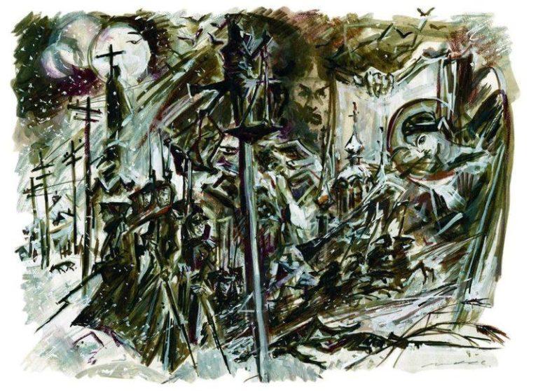 Иллюстрация к роману М. Булгакова «Белая гвардия»
