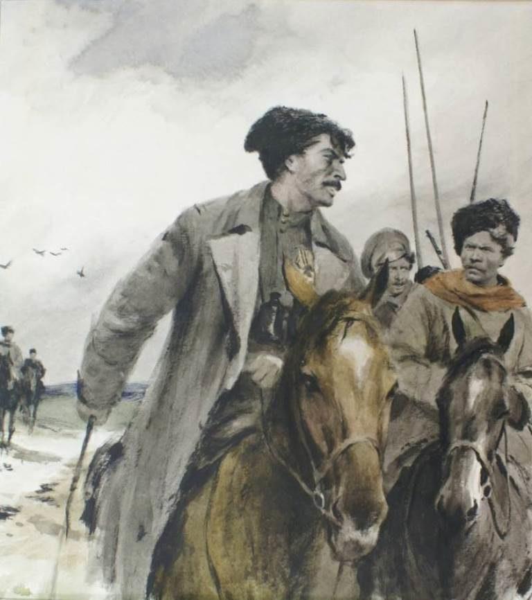 Иллюстрация к роману «Тихий Дон». 1960-е