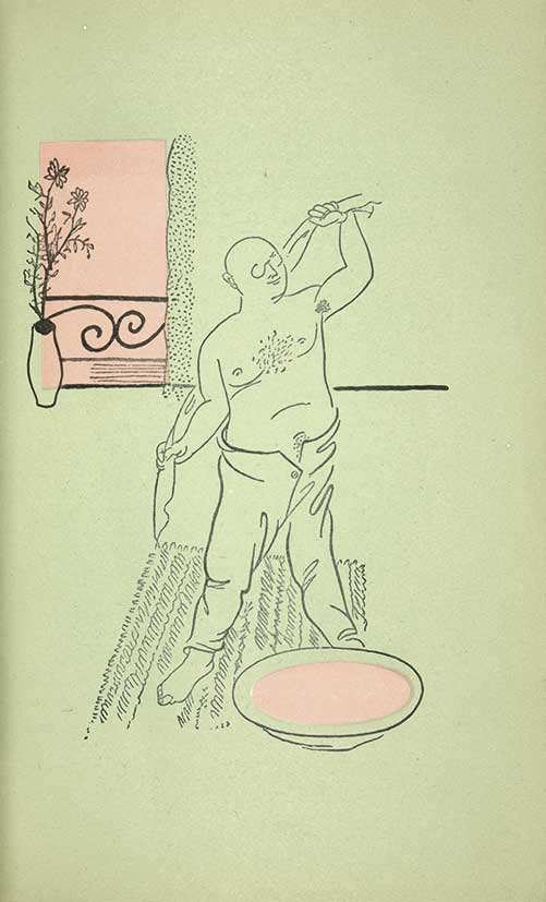Иллюстрация к повести Ю. Олеши «Зависть». 1928