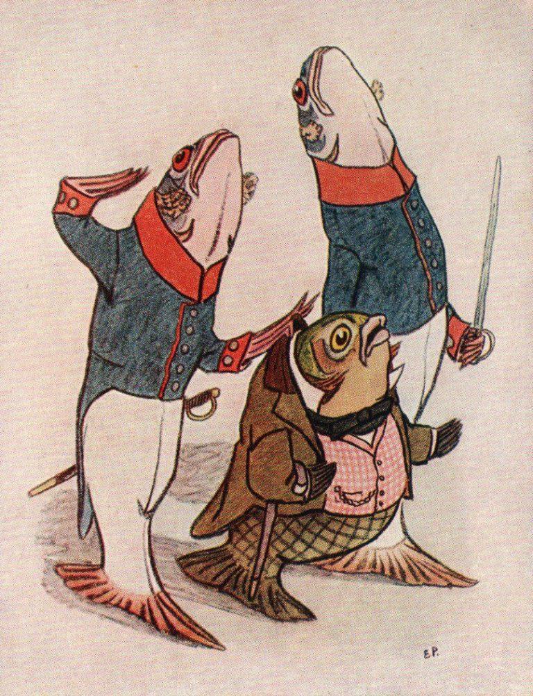 Иллюстрация к сказке М.Е. Салтыкова-Щедрина «Карась-идеалист». 1957