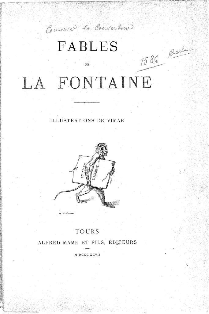 Издание «Басен» Лафонтена. 1897