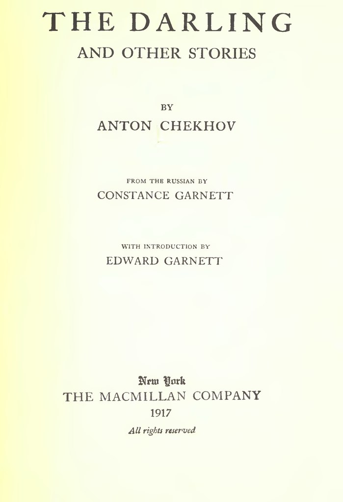 Издание рассказов А.П. Чехова на английском языке. Нью-Йорк, 1917