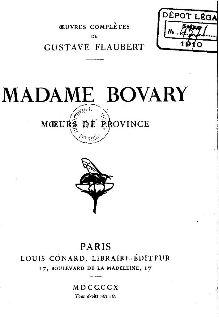 the elements of romantic realism in gustave flauberts madame bovary - gustave flaubert, _madame bovary_ nabokov teaches readers about various elements in literature using seven novels and i cherish the lecture on madame bovary.