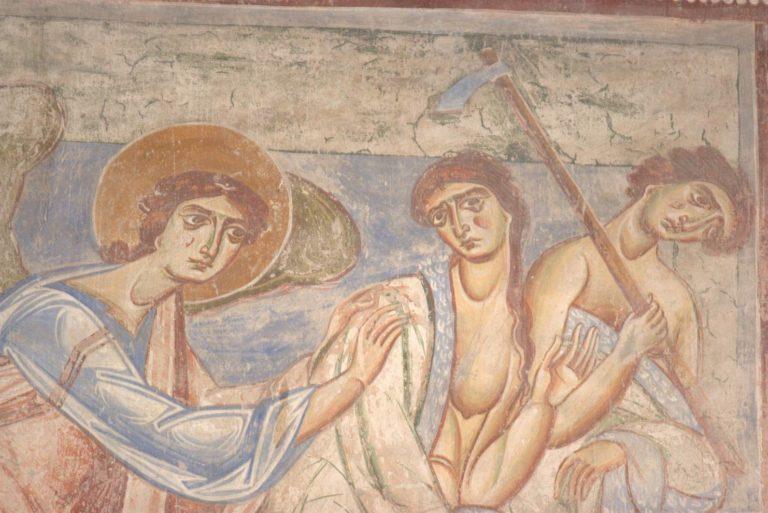 Изгнание из рая Адама и Евы. XI в.