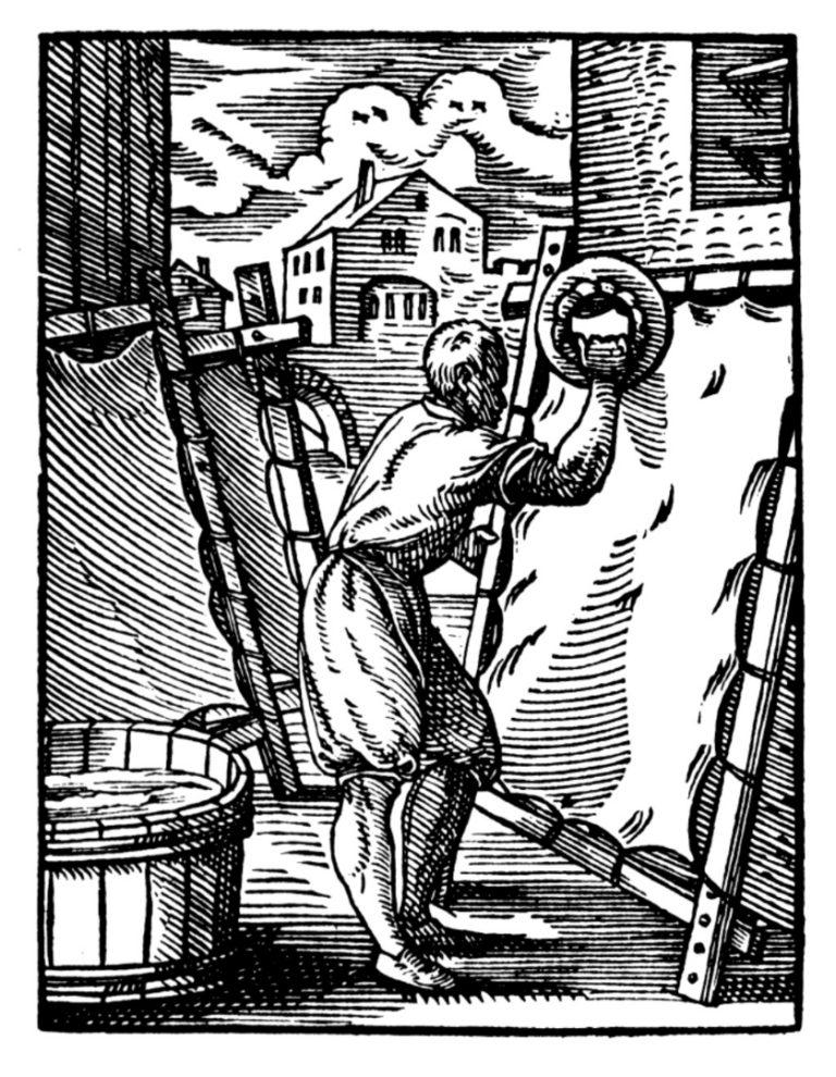Изготовление пергамента. 1568