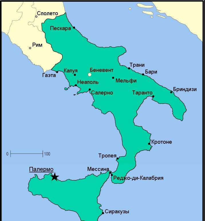 Королевство Сицилия в XII в.