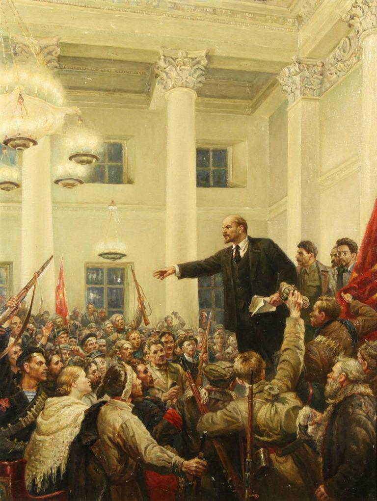 Ленин провозглашает Советскую власть. 1947