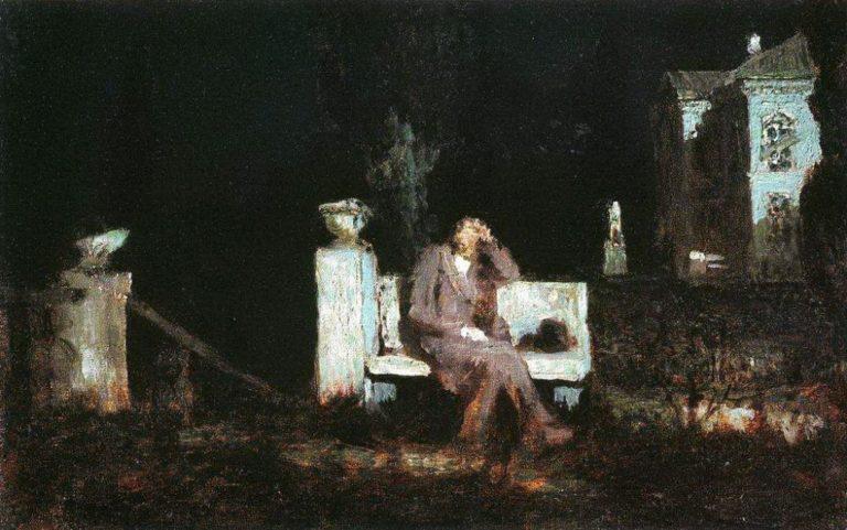 Лунная ночь. Раздумье. 1876–1890