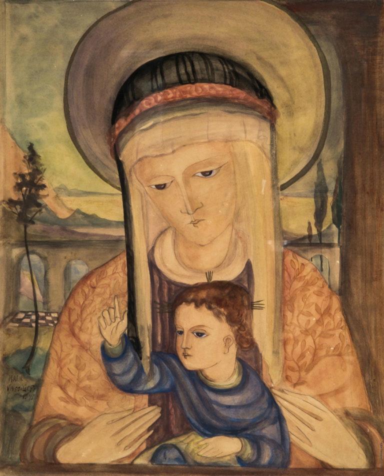 Мадонна с младенцем. 1943