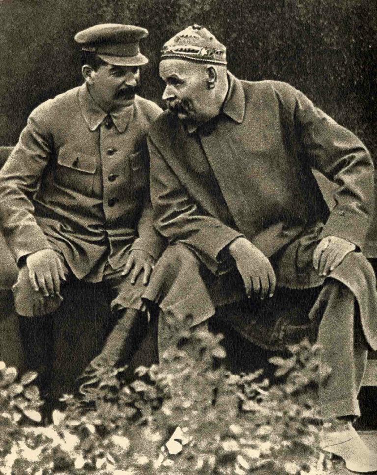 Максим Горький и Иосиф Сталин (Джугашвили, 1878/1879—1953). 1931