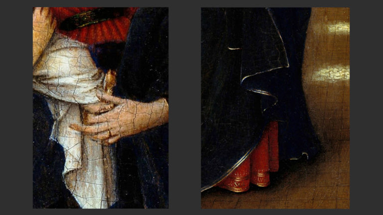 Мария в храме. Детали. 1438–1440