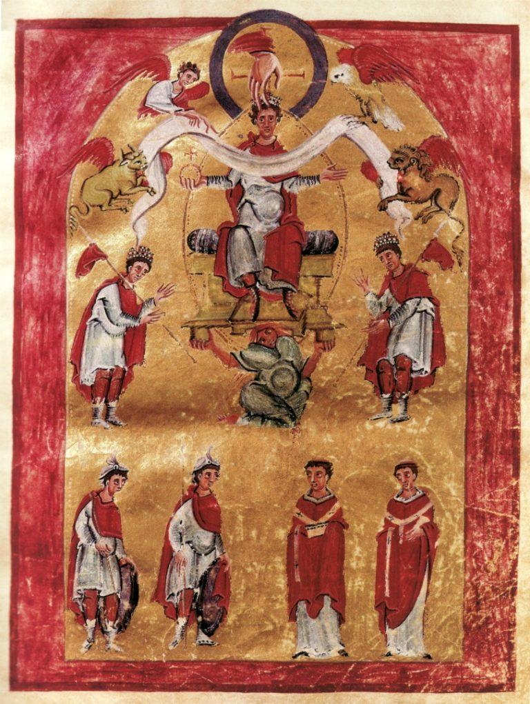 Миниатюра из Коронационного Евангелия Оттона III. Ок. 996 г.