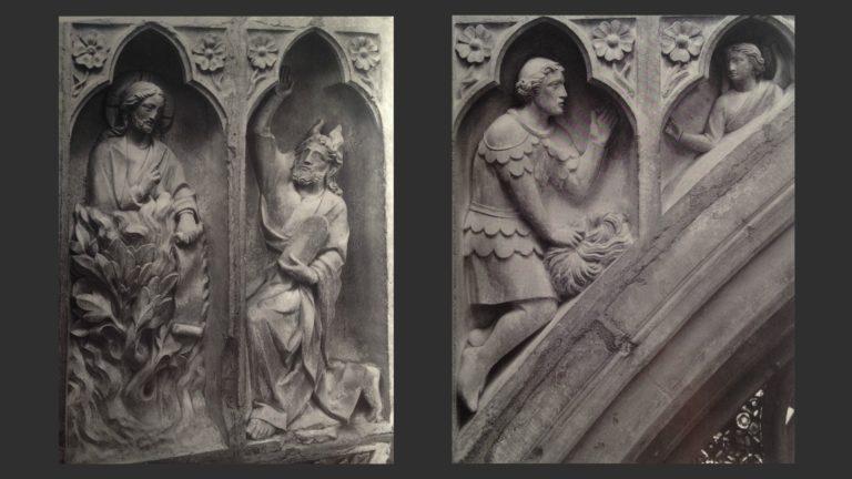 Моисей у Купины. Гедеон и ангел. Сер. XIII в.