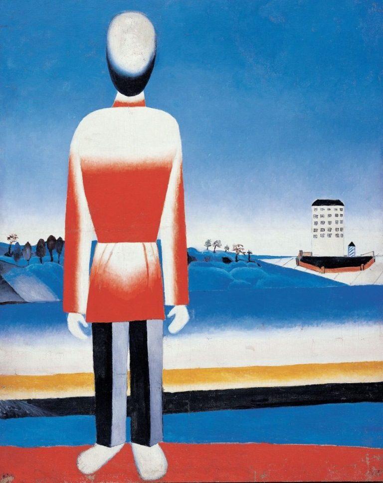 Мужчина в супрематическом пейзаже. 1930