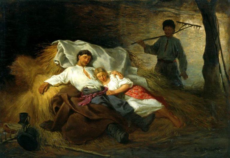 На сеновале. 1872