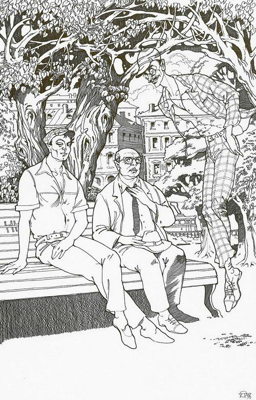 Никогда не разговаривайте с неизвестными. Иллюстрация к роману «Мастер и Маргарита». 1996