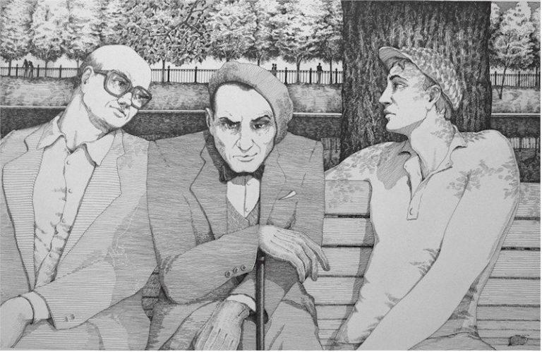 Никогда не разговаривайте с неизвестными. Иллюстрация к роману «Мастер и Маргарита». 2006