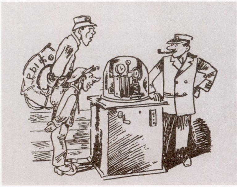Николай Олейников и Даниил Хармс на теплоходе «Алексей Рыков». 1929